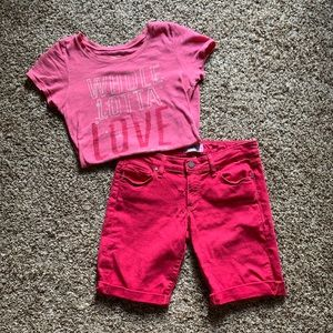 Paige Jeans Hot Pink Cut Off Shorts 27